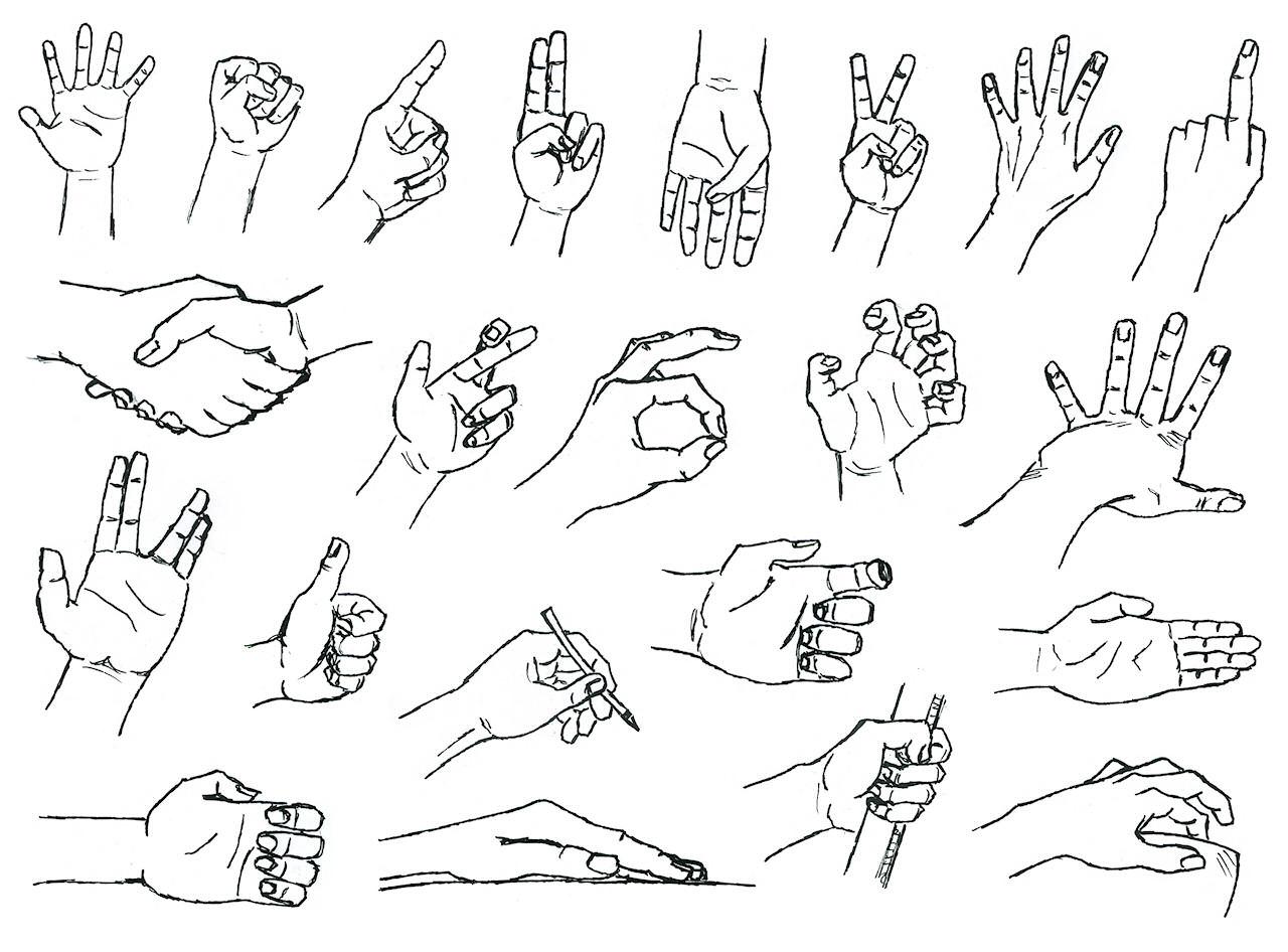 Etude de mains thomas kestemont - Dessins mains ...